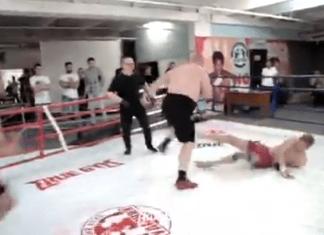VIDEO. Vecheslav Datsik bate 2 oameni în același timp!