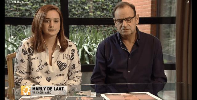 Marly de Laat and Marc de Bonte Senior - Image: RTL Boulevard