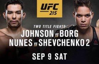 UFC 215 Demetrious Johnson Ray Borg Amanda Nunes Valentina Shevchenko