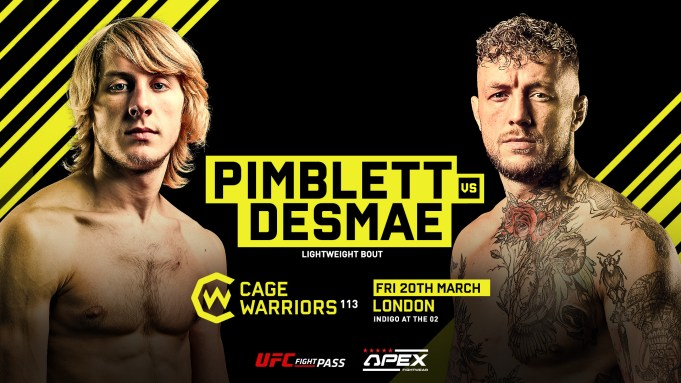 Paddy Pimblett vs Donovan Desmae CW113