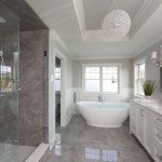 Inspiring Room White Monochromatic Elegant Classic Master Bathroom Chicago Architectural Photographer