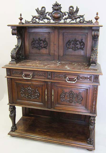 19th Century French Antique Cabinets in Gothic and