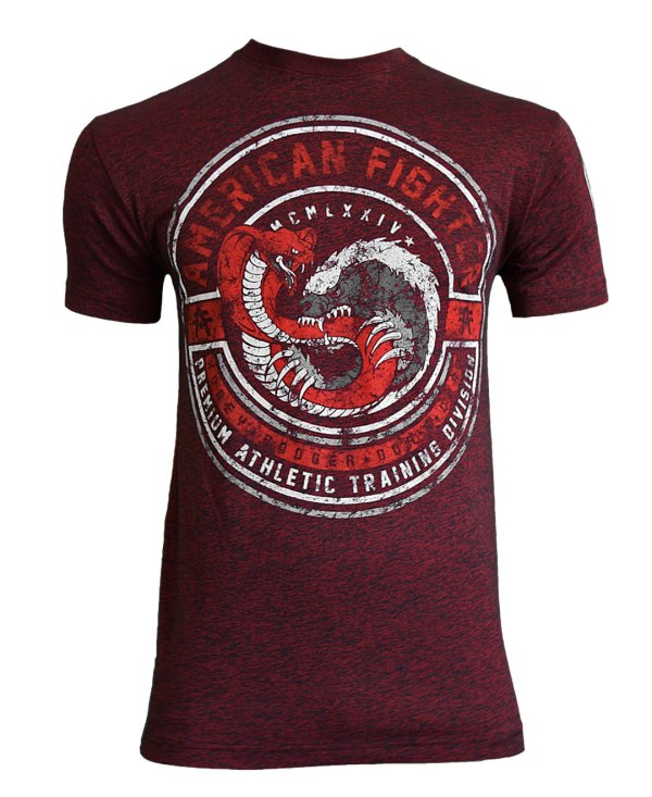 American Fighter Men' Humbolt Tee Shirt Rusted Red