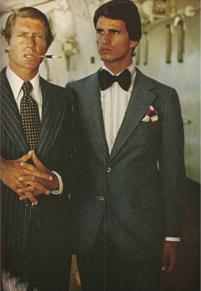 flannel suits H. Borenstein tie A. Rivets of Boston bow tie Berkley Cravats