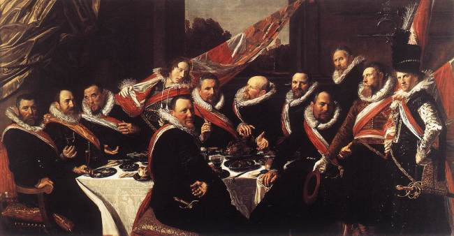 Banchetto degli ufficiali della Guardia civica di San Giorgio (1616, Haarlem, Museo Frans Hals).