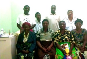 Patients and staff at the new clinic