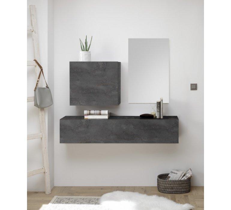 console meuble d entree suspendu design gris grey