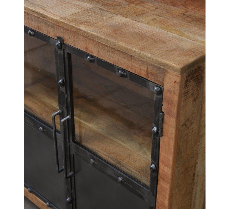 buffet industriel bois et metal lincoln