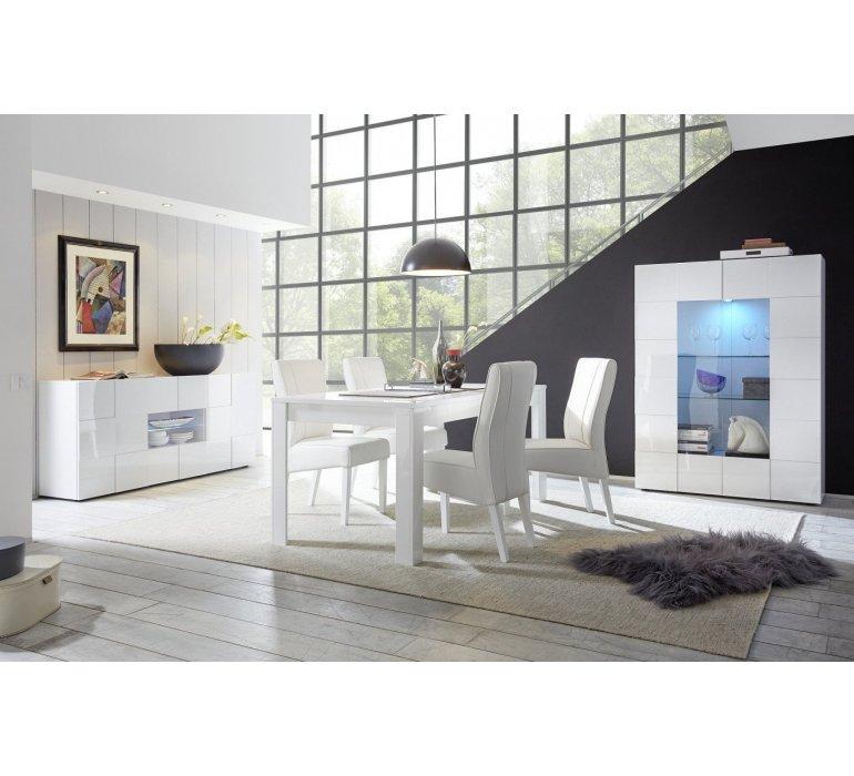 salle a manger blanc laque design lazio