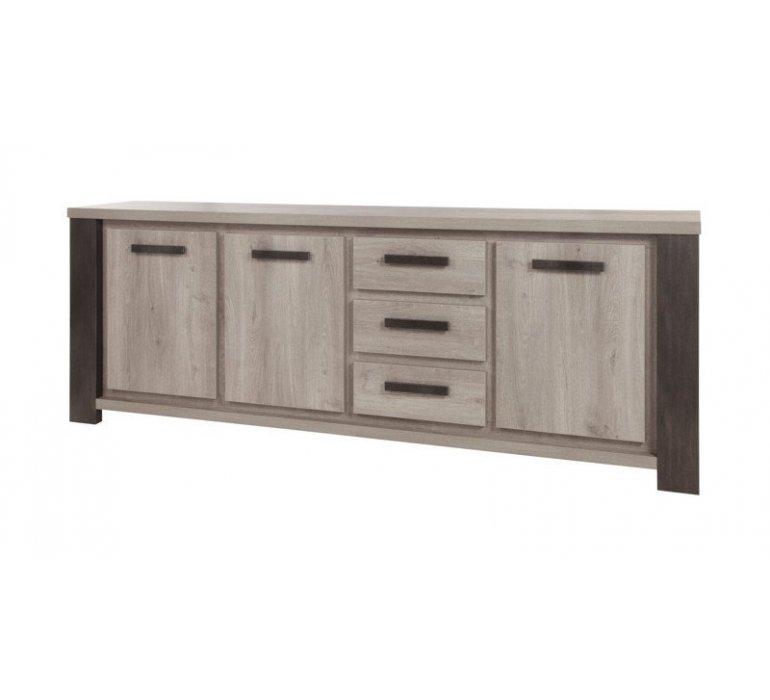 enfilade chene gris clair et anthracite contemporain alteo