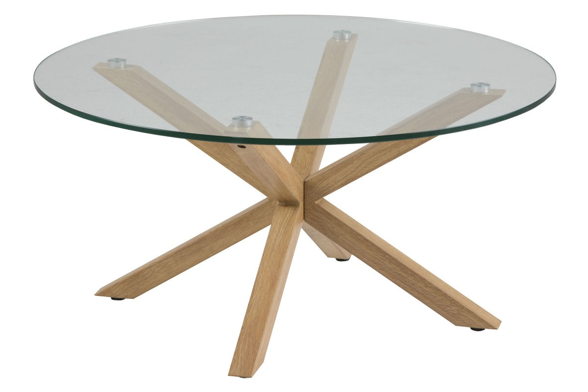 table basse ronde scandinave en verre goteborg