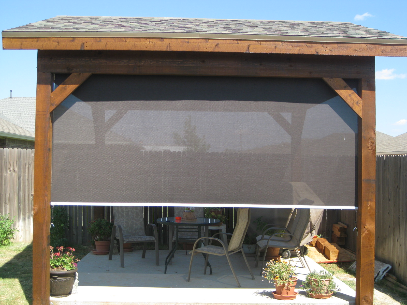 Tucson Patio Roller Shades