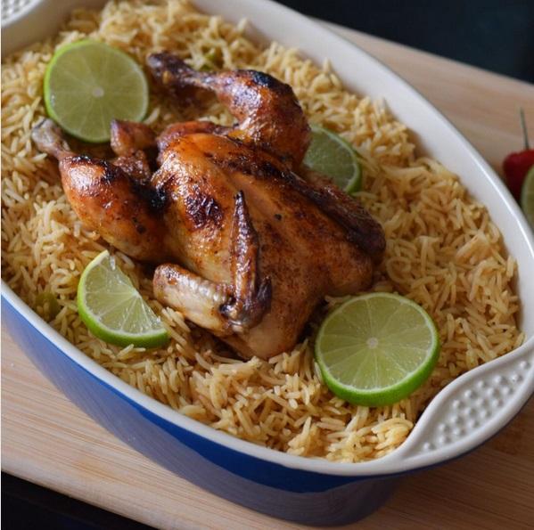 طريقة جديدة لعمل الفراخ المشوية مع الأرز البسمتي سهلة وسريعة