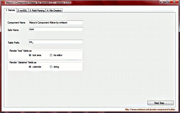 Creare componenti per Joomla! - Settings component