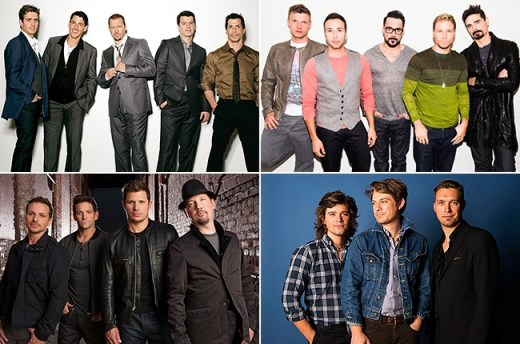 New Kids on the Block, Backstreet Boys, 98 Degrees, Hanson Olaf Heine; K-BAHN/BMG; Chapman Baehler; Kate Glicksberg