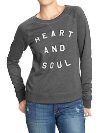 Women's Terry-Fleece Raglan Tops - Heart & Soul