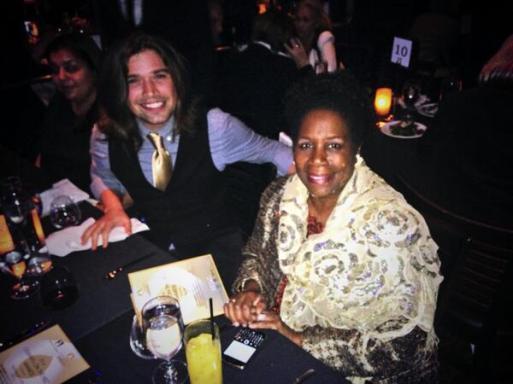 Zac Hanson with Sheila Jackson Lee