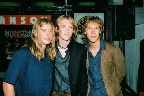 Mandatory Credit: Photo by Matt Baron/BEI/REX Shutterstock (319923a) Hanson - Zac, Taylor and Issac HANSON CD SIGNING AT COCONUTS RECORD STORE, NEW YORK, AMERICA - 10 MAY 2000