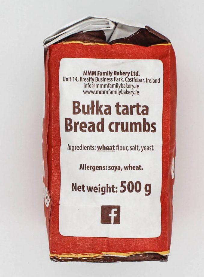 Bread crumbs ingredients