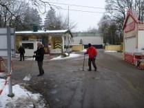 Die Jugendgruppe beim Eis stessen