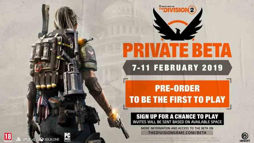 Beta Privada de Tom Clancy's The Division 2