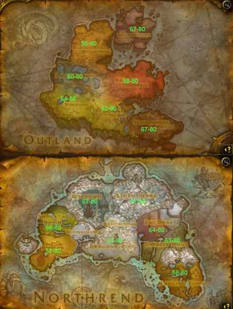 Outland-Northrend-Leveling-Guide-Map