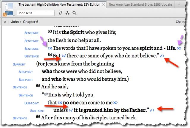 John 6:64-65 on The Giving blog by Cheryl Schatz