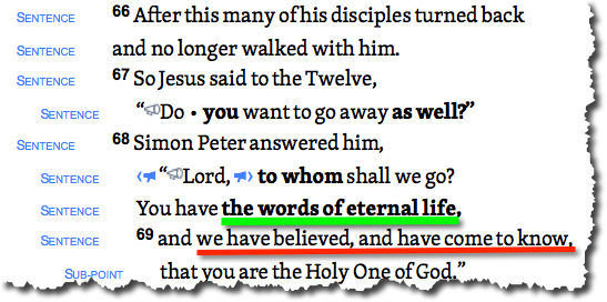 John 6:68 on The Giving blog by Cheryl Schatz