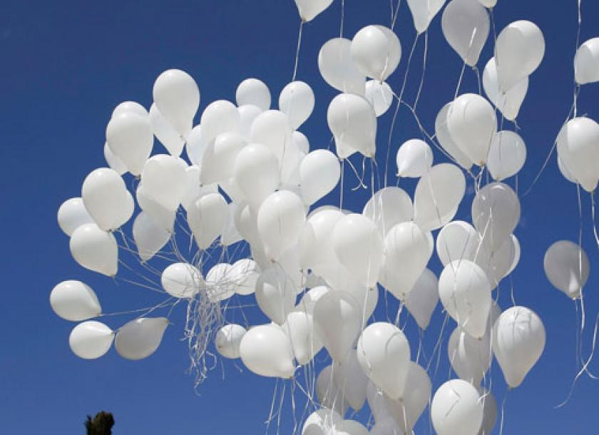 white balloon day to