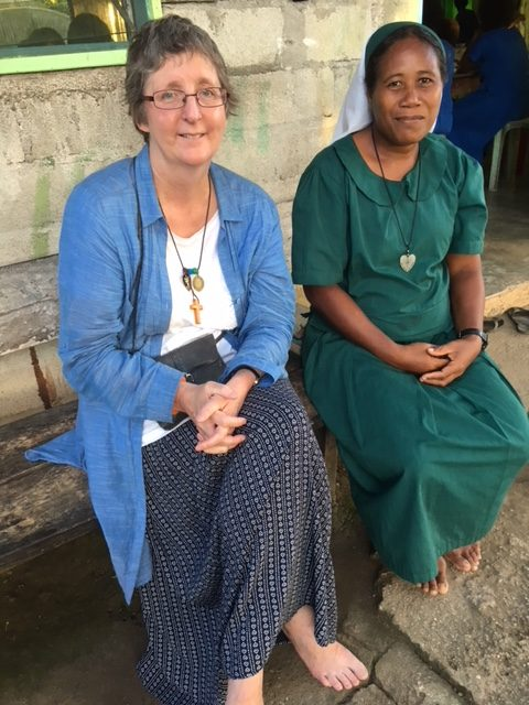 Novice Sister Mildred and Cathy