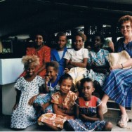 Alison Sparham and Melanesian Children