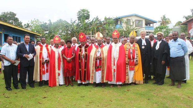 Rt Reverend Willie Tungale, the new Bishop of the Diocese of Temotu