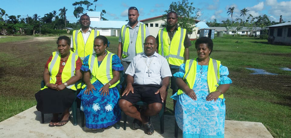 Bishop of DOVNC, the Rt Rev James Tama, with Vanuatu Disaster Relief Team