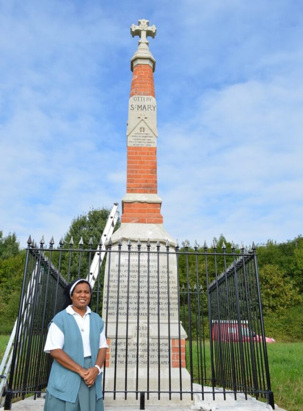 Revd Sr Veronica CSC, Patteson's Cross, East Devon