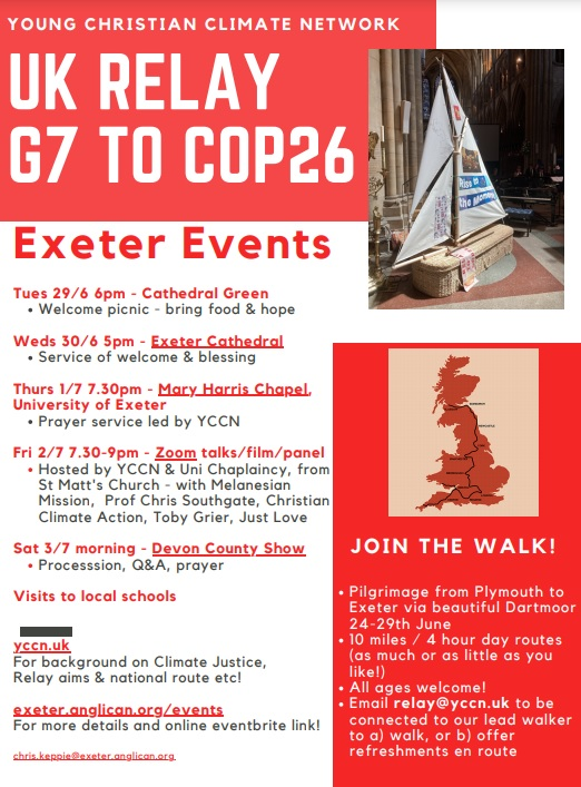 Relay to COP26 Poster