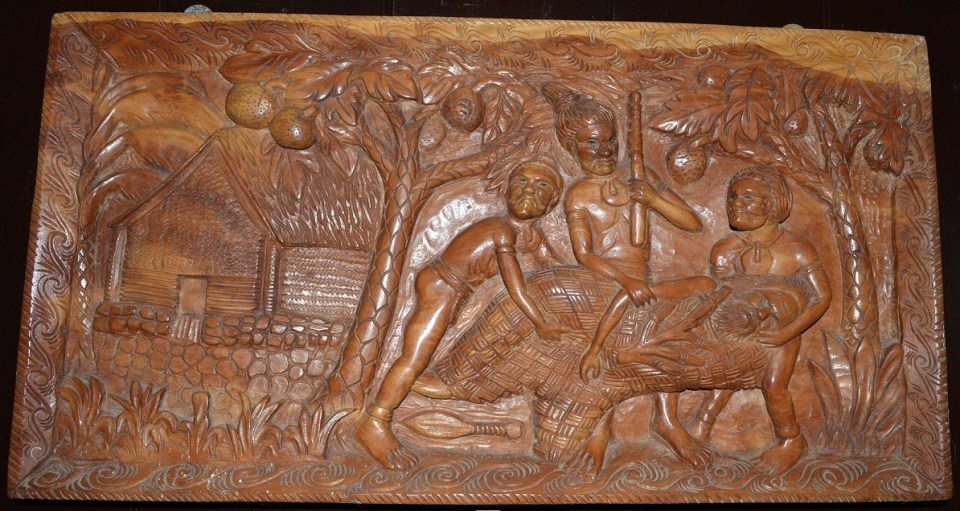 Relief Panel - Carving - Depicting The Death Of Bishop Patteson
