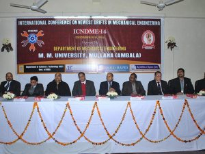 "International Conference on ""Newest Drifts in Mechanical Engineering"""