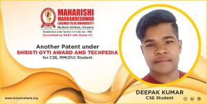 MM(DU) CSE student another patent for his innovative project
