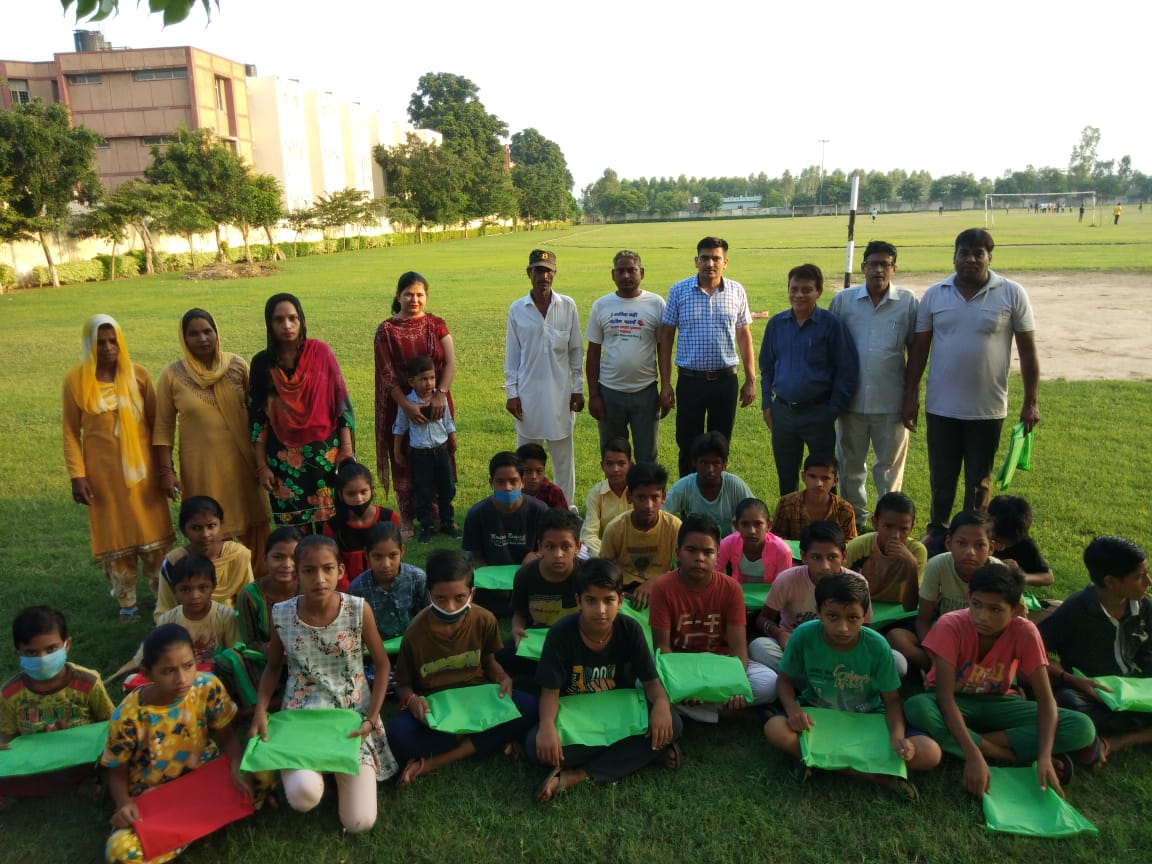 Distribution of Stationery Items for Underprivileged Children