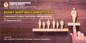 """Essay Writing Competition on """"Leadership is about Nurturing and Enhancing"""""""