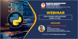 One Day Webinar on Data Science Applications using Python
