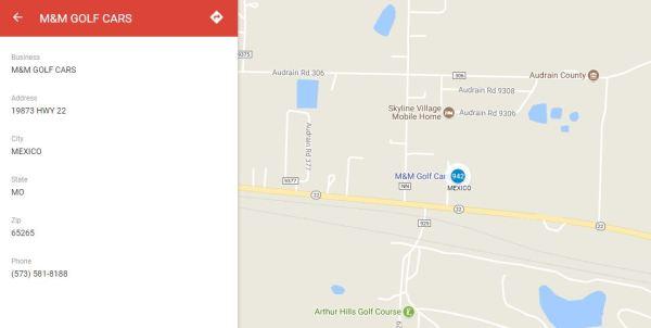 M&M Vehicles Dealer Map