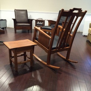 Gamble Rocking Chair with Side Table
