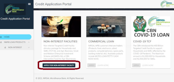 How To Apply For CBN NIRSAL Non Interest Facilities Loan 1 1