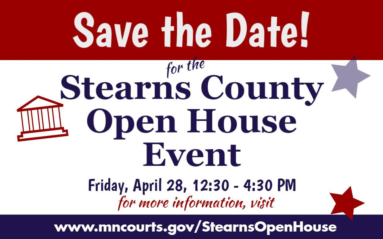 Stearns County Open Courthouse Flyer