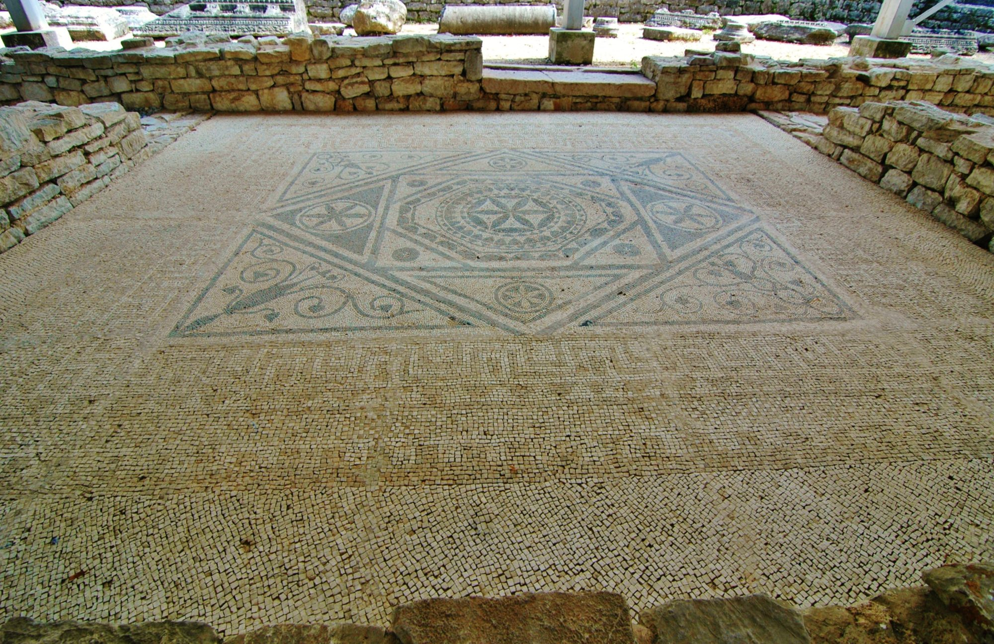 Roman mosaic floor - Risan, Montenegro