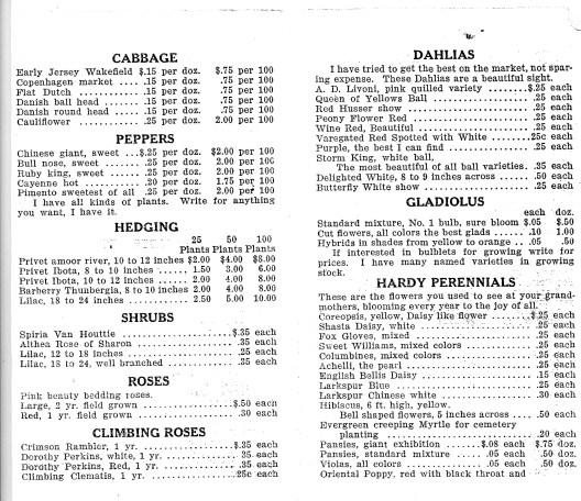Schott Anthony price sheet4