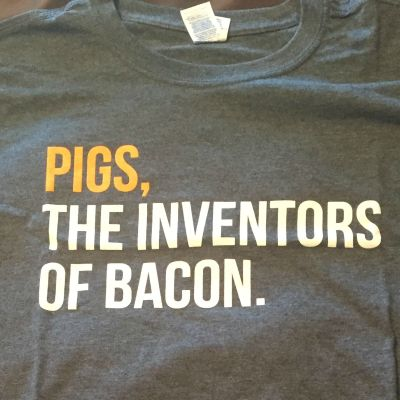 MFL Giveaway – Pigs, The Inventor of Bacon T-Shirt and Seasoning