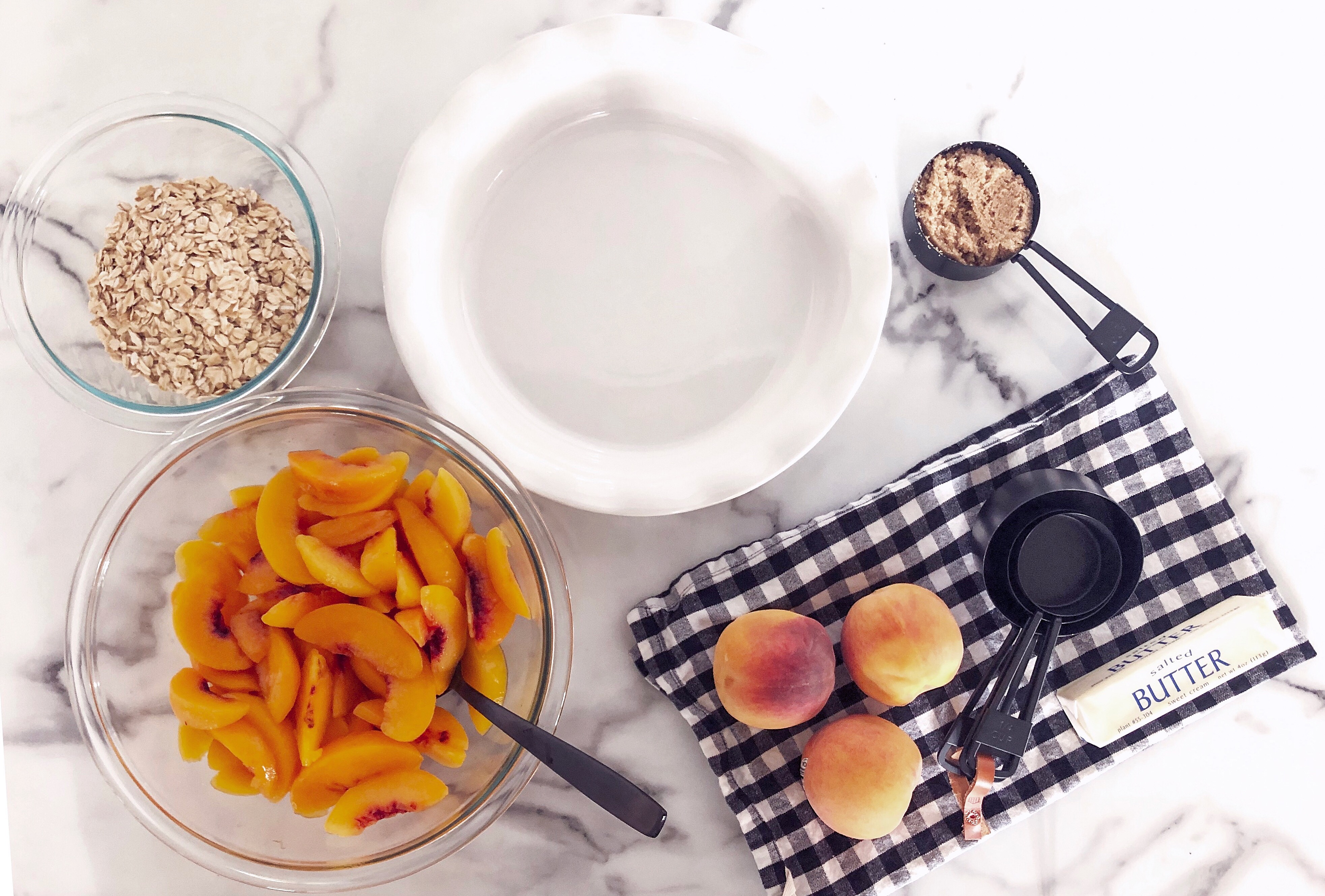 Peach Crisp Ingredients