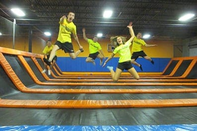 Kids Jumping on Airmaxx Trampolines